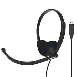 CS200 USB - Casque d'écoute moyen avec microphone USB