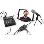 interface audio pour diffusion en continu 2 canaux