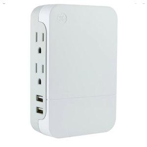 2 sorties + 2 ports USB Protection contre les surtensions