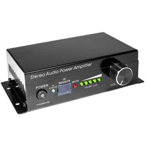 amplificateur audio stereo classe D avec telecommande IR