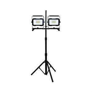 lampe de travail DEL 2 tetes 26w / 2500l / 4000k(4-80167)