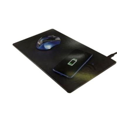 tapis de souris avec chargeur rapide sans fil QI integre